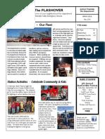 FLASHOVER - JTFD 2016 Spring Newsletter