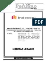 Sala Especializada en Procedimientos Concursales Del Tribunal Nº 0226-2016-SCO-Indecopi