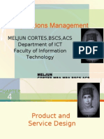 MELJUN CORTES - Operation Management 4th Lecture (PRODUCT DESIGN)