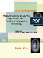MELJUN CORTES -Operations Management 4th-4a Lecture (RELIABILITY)