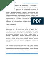 Definicion de Sistema de Información y Clasificación