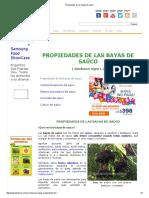 Propiedades de Las Bayas de Saúco
