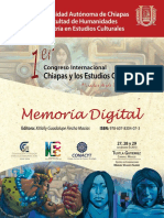 Memorias 1er Congreso Chiapas y Los Estudios Culturales