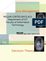 MELJUN CORTES -Operations Management 5th-5a Lecture (DECISION THEORY)