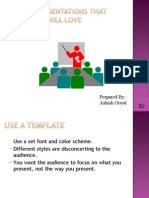 How to make Good Ppts