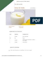 Caipirinha Cremosa de Limão - Receitas - Água Doce