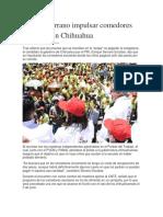 2016-05-25 Ofrece Serrano Impulsar Comedores Escolares en Chihuahua