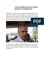 2016-05-25 Propone Serrano Modelo Fiscal Que Inhiba Cobro de Impuestos a Trabajadores
