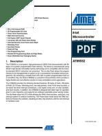 microcontroller AT89S52 datasheet