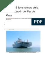 Año 2016 Lleva Nombre de La Consolidación Del Mar de Grau