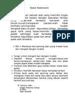 Need Statement Kelompok (2)