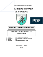 MONOGRAFIA Informatica Juridica en ARGENTINA