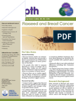 AICR InDepth Issue 01 Flaxseed and Breast Cancer