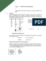 Laboratorio de Principio de Arquimides