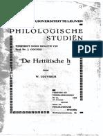 Couvreur - De Hettitische ḫ (1935)