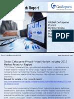 Global Cefcapene Pivoxil Hydrochloride Industry