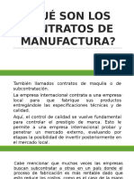 Contratos de Manufactura Xina