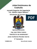 Pryecto de Inversion - Jesus Guillermo Morales Garcia