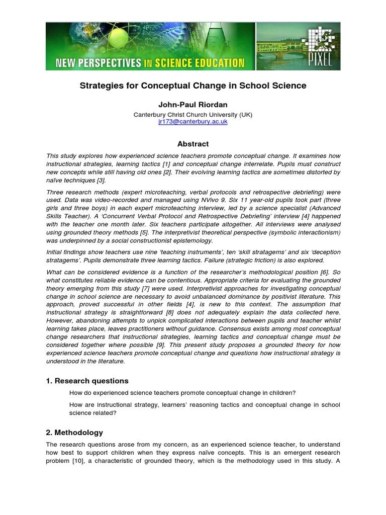 Artikel Strategies For Conceptual Change In Sch Sciencepdf