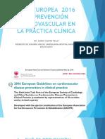Guía Europea 2016 de Prevención Cardiovascular