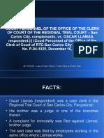 Court Personnel vs Llamas