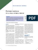 Factores Genéticos en La Falla Ovárica Precoz