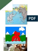 El elefante y su familia