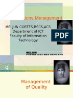 MELJUN CORTES - Operations Management 9th Lecture (QUALITY MANAGEMENT)
