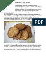 Galletitas Fáciles De Avena Y Miel Receta