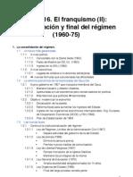 Tema 16 El Franquismo II (1960-75)