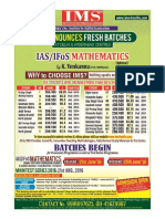 IMS Institute of Mathematical Sciences Complete Information Brochure