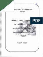 Manual Para Ejecución de Los PIP GRT