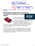 Differential Temperature Transducer_br __An Iterative Method of Evaluating the Signal Delta-T Company