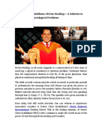 Pastor Chris Oyakhilome Divine Healing a Solution to Physical and Physiological Problems