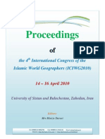 Proceeding of the English Full Papers - 4th International Congress of the Islamic World Geographers (ICIWG 2010)