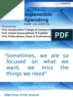 Responsible Spending-II SEM UG 2015