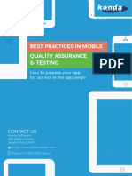 Best Practices in Mobile Quality Assurance and Testing