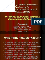 PC4 the Role of Consultancy Services - Bassil Burke