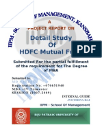 Detail Study  Of HDFC Mutual Fund