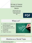 9th grade 1st semester research presentation- reproductive rights