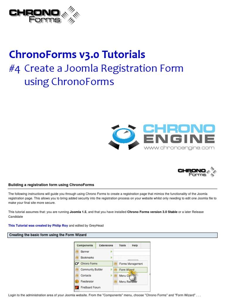 chronoforms pour joomla 1.5