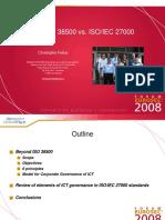 Eurosec 2008 _ Iso Iec 38500 vs. Iso Iec 27000