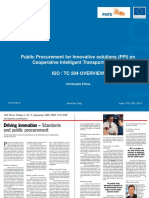 P4ITS 2014 _ Public Procurement for Innovative Solutions PPI on Cooperative Intelligent Transport Systems ISO TC 204 OVERVIEW