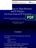 ARES 2009 _ Methodology to Align Business and IT Policies, Use Case From an IT Company