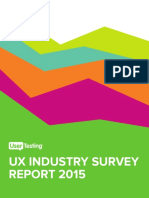 UserTesting 2015 Industry Survey Report