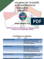 Wasrti- 3rd ICRST 2