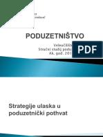 3. Strategije Ulaska u Poduzetnicki Pothvat