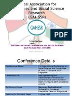 3rd ICSSH