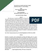 Penerapan Pp No. 46 Tahun 2013 Pada Umkm