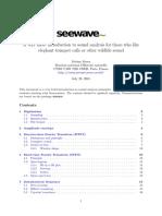 Seewave Analysis